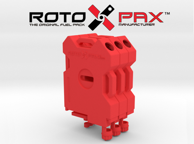 TR10009 TRX-4 RotopaX RED in Red Processed Versatile Plastic