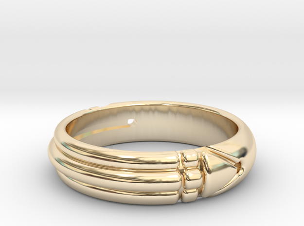 Atlantis ring in 14k Gold Plated Brass: 7 / 54