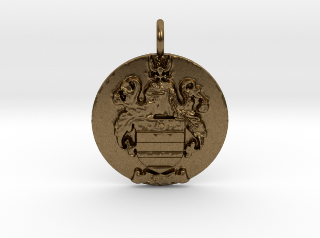 Mather Family Crest Pendant in Natural Bronze