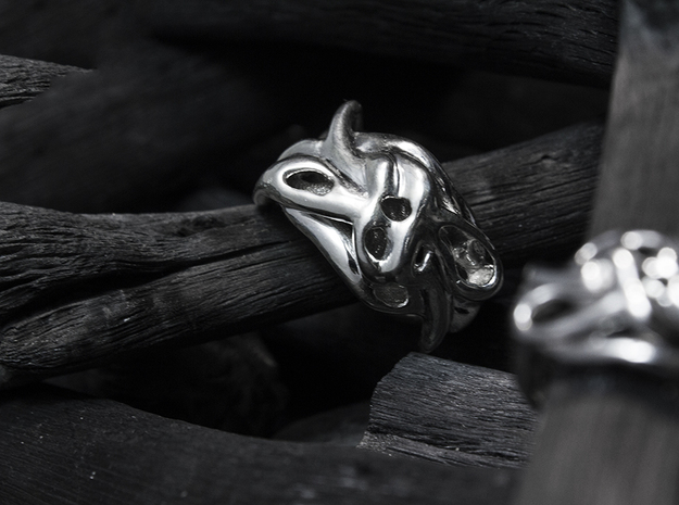 Ventricle_Band in Rhodium Plated: 6 / 51.5