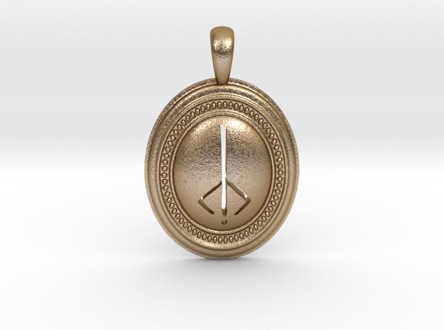 Bloodborne Hunter's Mark Pendant/Keychain in Polished Gold Steel