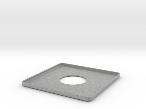 "4x5"" Graflex Lens board in Metallic Plastic"