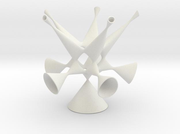 Togliatti Quintic smoothed (museum size) in White Natural Versatile Plastic: Medium