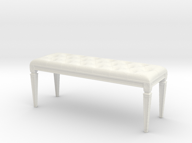Printle Thing Bench 01 - 1/24 in White Strong & Flexible