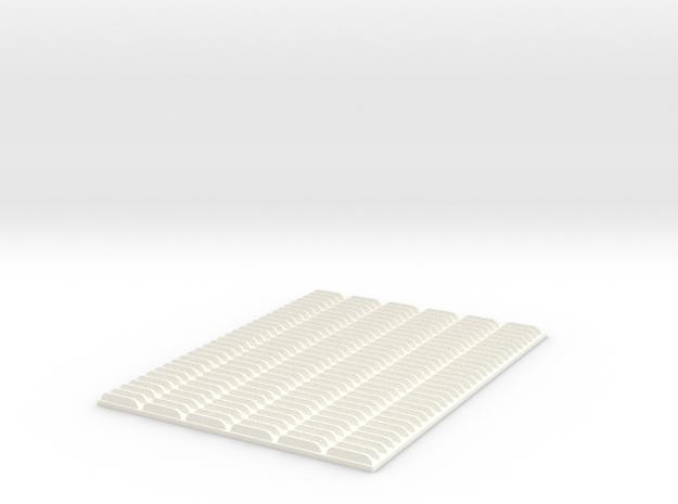 1/25 5in Louver Block in White Processed Versatile Plastic