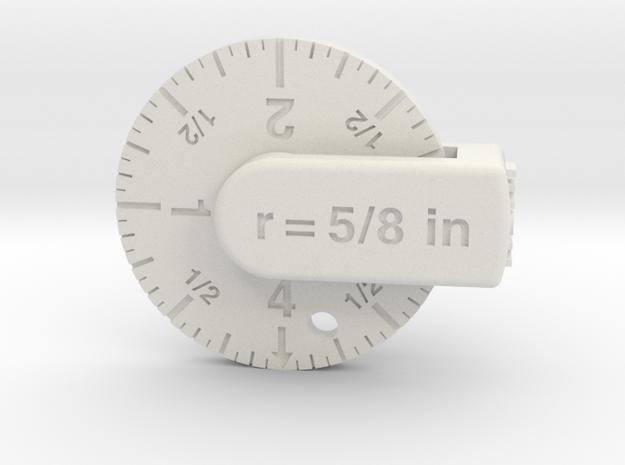 S ruler in White Natural Versatile Plastic