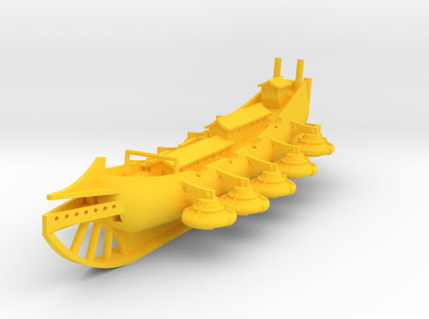 Golden Flying Galleon in Yellow Processed Versatile Plastic: 1:700