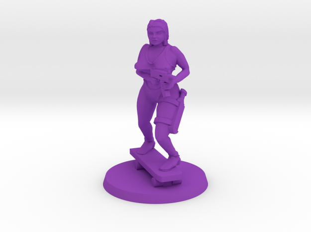 Longboard Hazel in Purple Processed Versatile Plastic