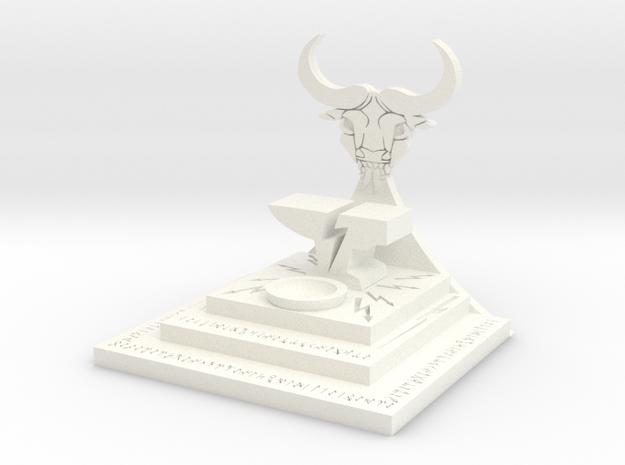 Evil Dwarf Bull Demon Alter in White Processed Versatile Plastic