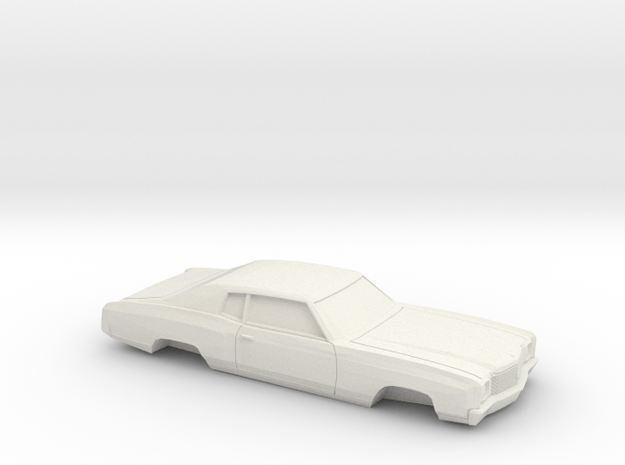 1/32 1970 Chevy Monte Carlo in White Natural Versatile Plastic