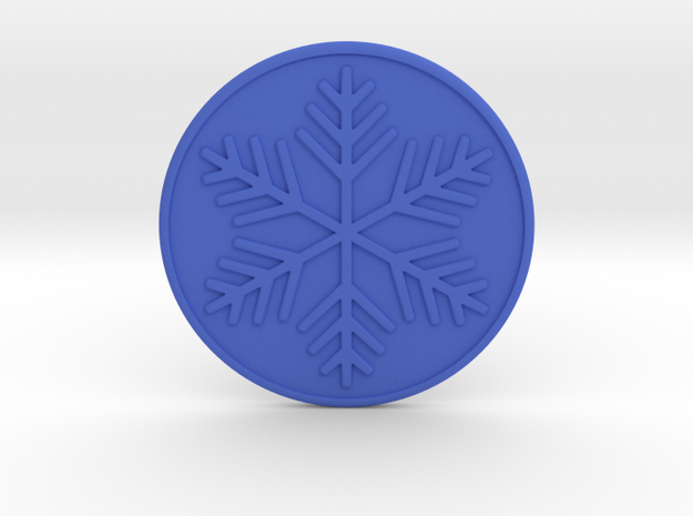 Snowflake Coaster in Blue Strong & Flexible Polished