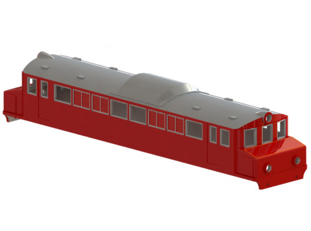 Swedish SJ electric locomotive type Mg - H0-scale in White Strong & Flexible