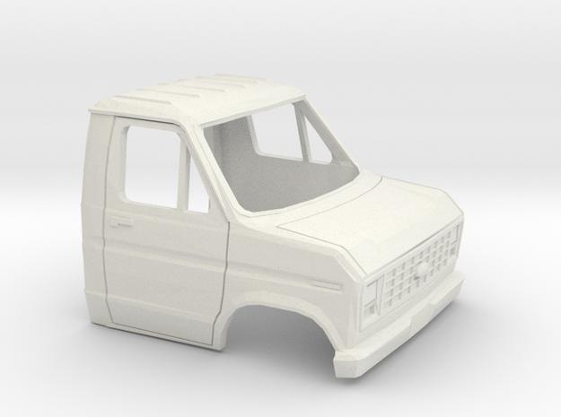 1/35 1975-91 Ford E-Series Cab in White Natural Versatile Plastic