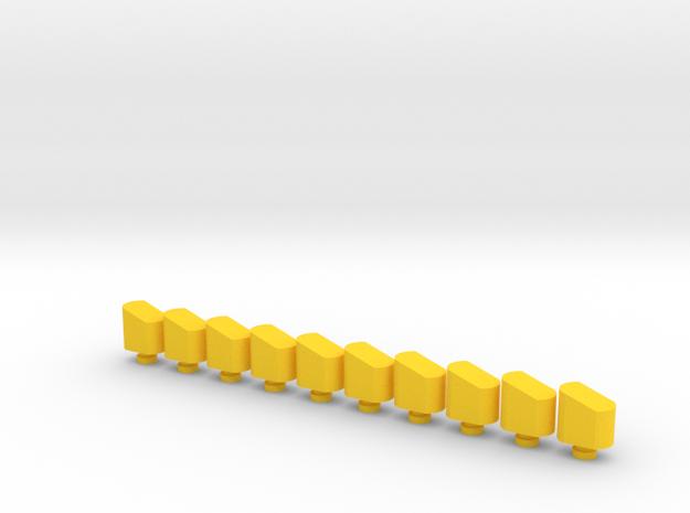 Airsoft Magazine Feeder Head (10-Pack) in Yellow Processed Versatile Plastic