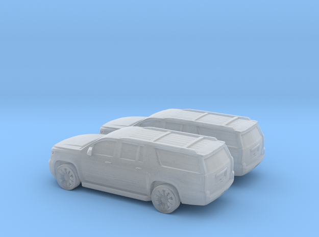 1/144 2X 2015 Chevrolet Suburban in Smooth Fine Detail Plastic