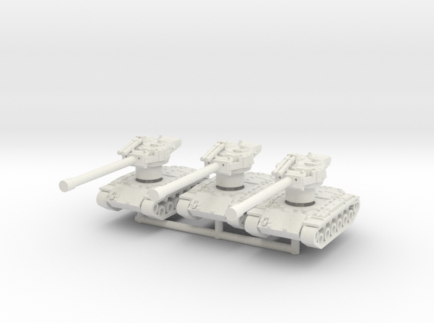 T26E4 1-144 scale 3x Superpershing  in White Natural Versatile Plastic