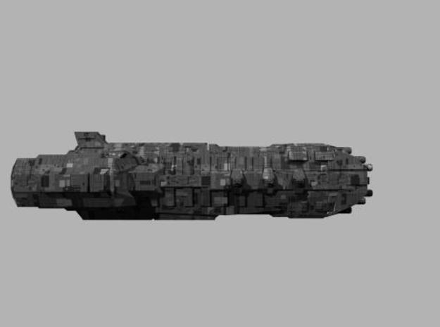 Londarian Chakram class  Heavy Cruiser 3d printed Side Profile render