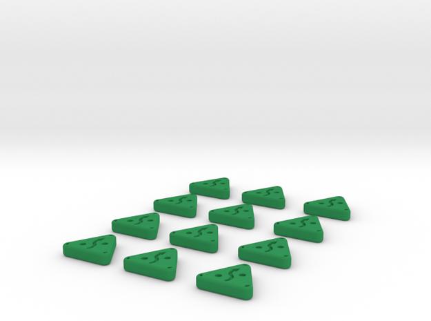Evade Tokens  in Green Processed Versatile Plastic