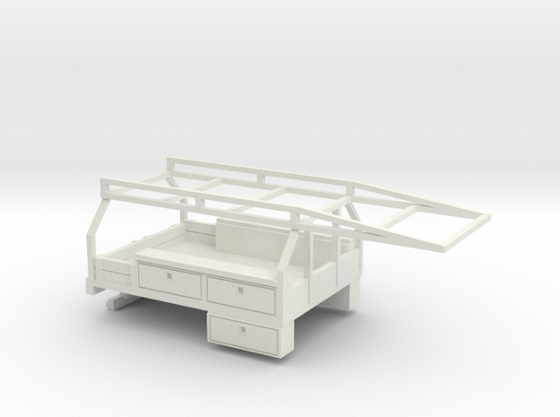 1/35 Contractor Bed in White Natural Versatile Plastic