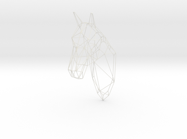 Horse Head Wireframe 25in in White Strong & Flexible