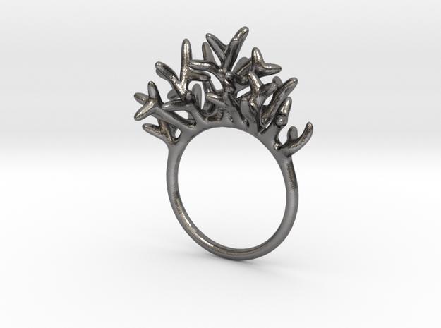 Ring Arboreus in Polished Nickel Steel: 7 / 54