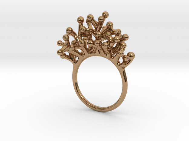 Ring Botryoides in Polished Brass: 7 / 54