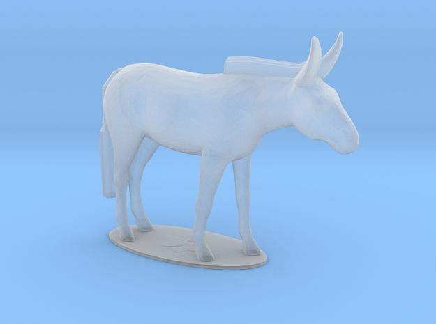 Mule in Smooth Fine Detail Plastic: 1:64 - S