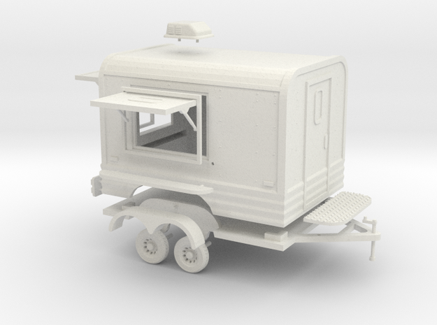 Makai - Concession Trailer (1/43) in White Strong & Flexible