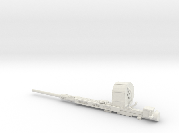 1/24 Oerlikon 20mm cannon in White Strong & Flexible