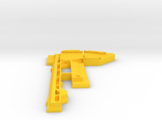 Kai Tak (VHHH) Airport 1:30000 in Yellow Processed Versatile Plastic