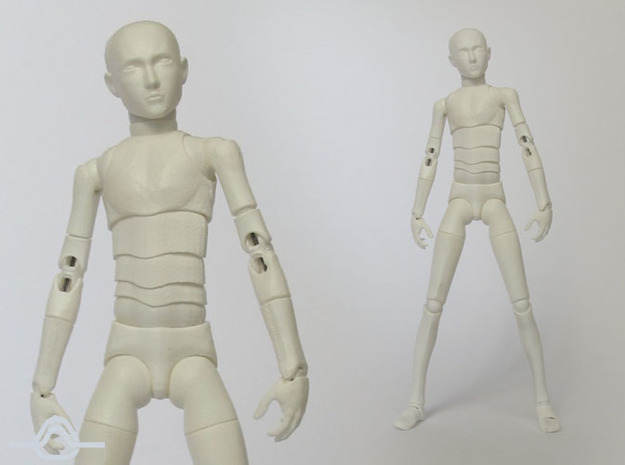 1:16 MALE Bjd Doll Kit 3d printed