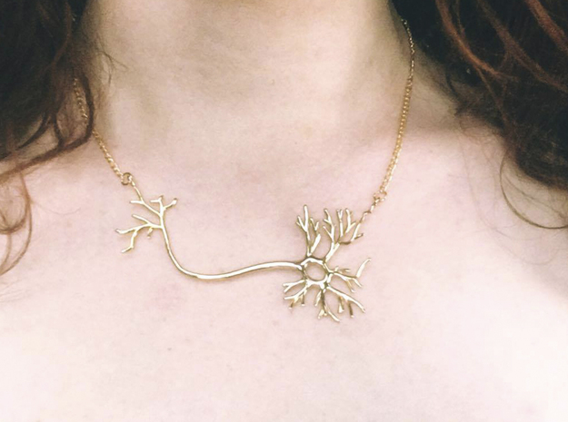 Neuron Necklace  in 14k Gold Plated