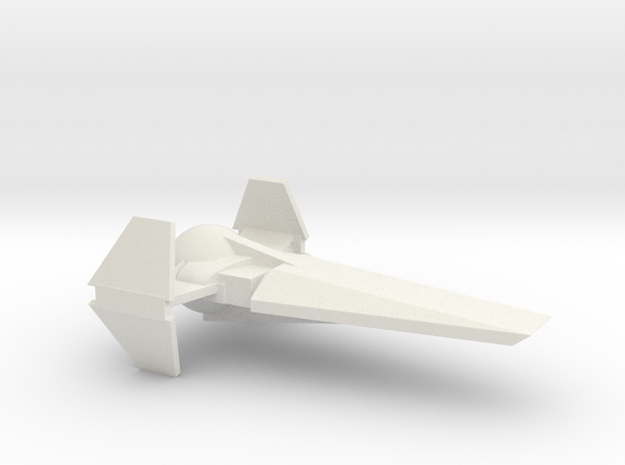 Star Courier in White Natural Versatile Plastic