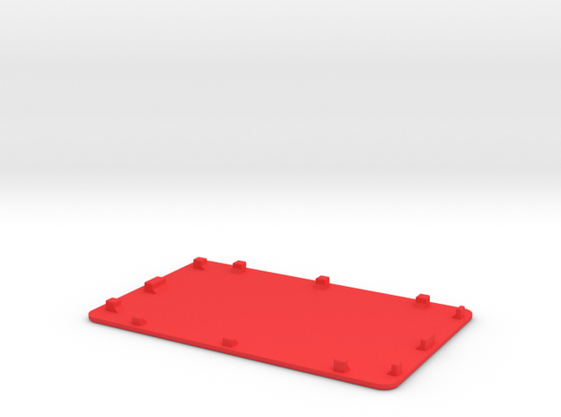 NANO_Pi2_LCD_COVER in Red Processed Versatile Plastic