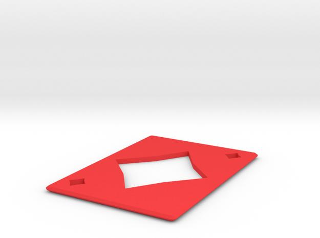 Metal Card Diamonds  in Red Processed Versatile Plastic