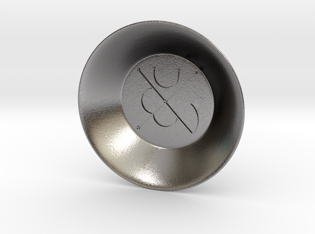 Seal of Mars Charging Bowl (small) in Polished Nickel Steel