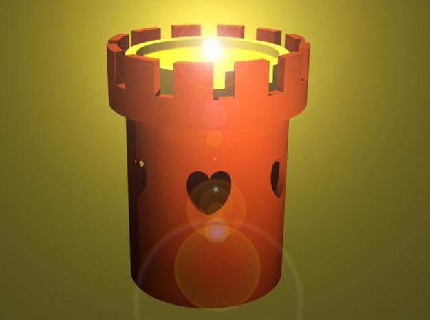 Tower of Love - Tealight Candle Holder 3d printed Rendered image.