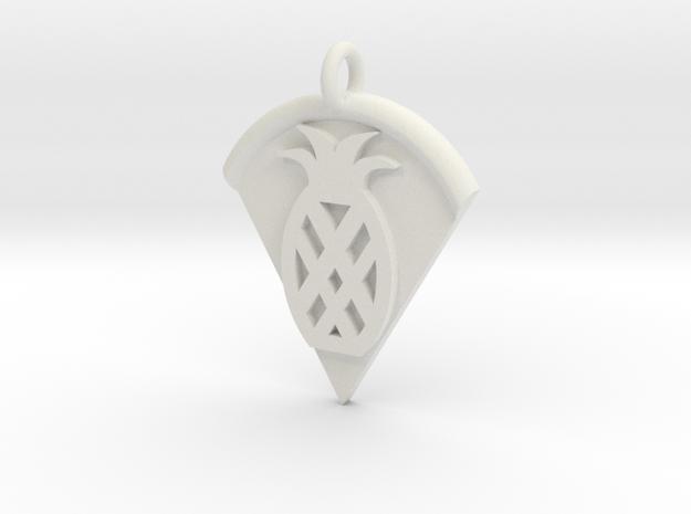 Pineapple Pizza Pendant in White Natural Versatile Plastic