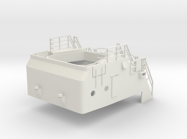 Superstructure H0 1/87 V60 fits Harbor Tug  in White Natural Versatile Plastic