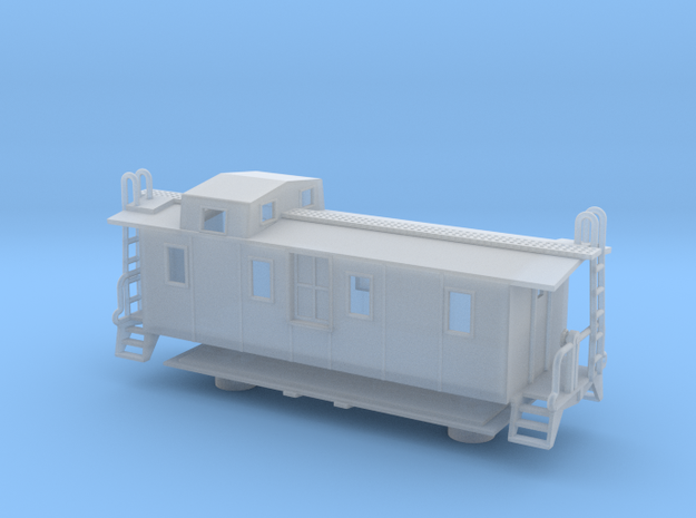 Illinois Central Side Door Caboose II - Zscale in Smooth Fine Detail Plastic