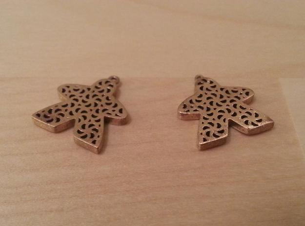 Filigree Meeple Earrings