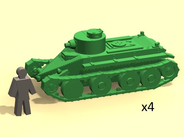 6mm 1/285 Christie T3 tank in Smoothest Fine Detail Plastic