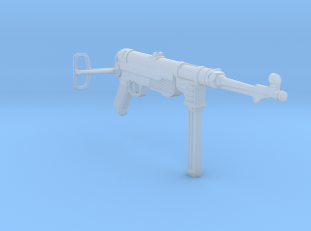 MP40 (unfolded) (1:18 scale) in Frosted Ultra Detail: 1:18
