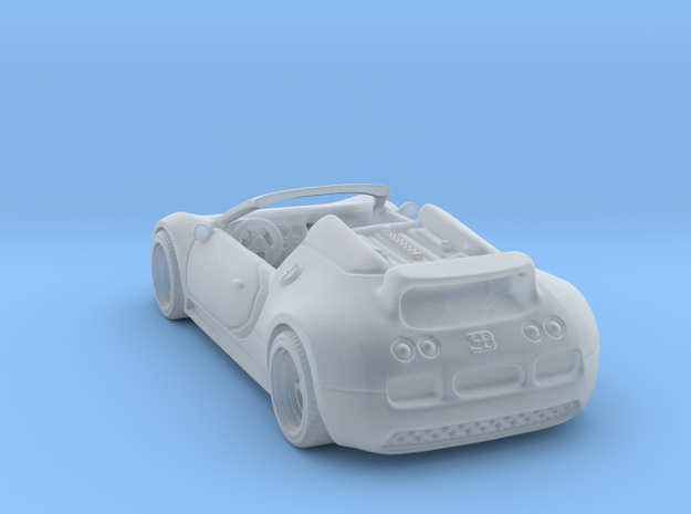 Bugatti Veyron 2012 1:120 TT in Smooth Fine Detail Plastic