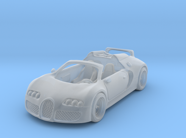 Bugatti Veyron 2012 1:87 HO in Smooth Fine Detail Plastic