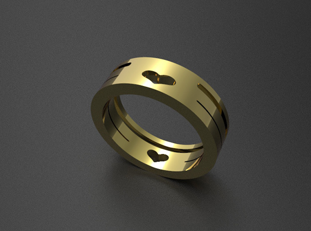 heart ring in 14K Gold: 7 / 54