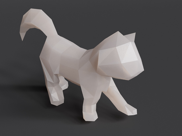 Polygon Kitten Sculpture