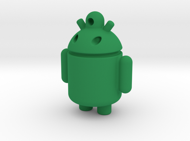 android robot in Green Processed Versatile Plastic