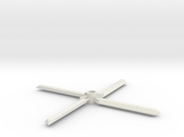 Vortex Rotors_8mm in White Natural Versatile Plastic