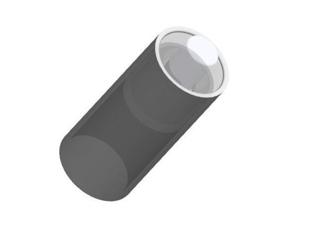 Blade Plug tube for NWX blade holder in Smooth Fine Detail Plastic